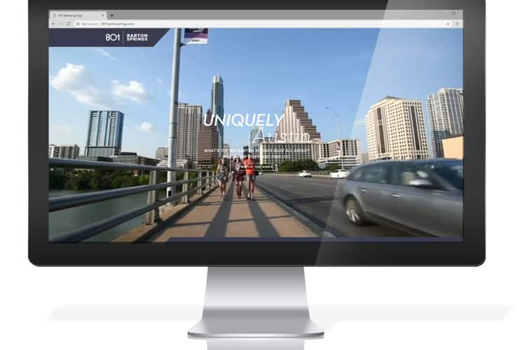 801 Barton Springs website screenshot