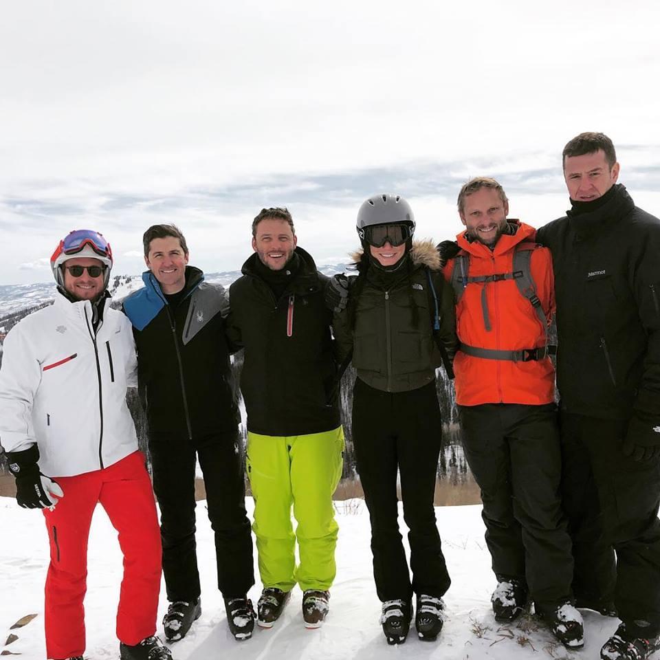 Matt Wilhite skiing