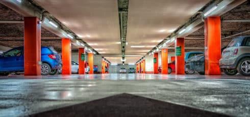 Clean Commercial Parking Garage