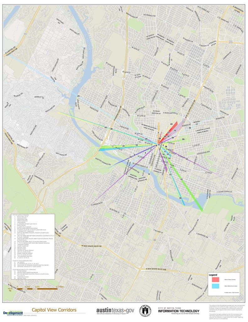 City of Austin Zoning - Capitol Views Corridor