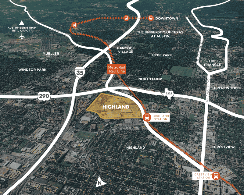 Highland Redevelopment location in Austin