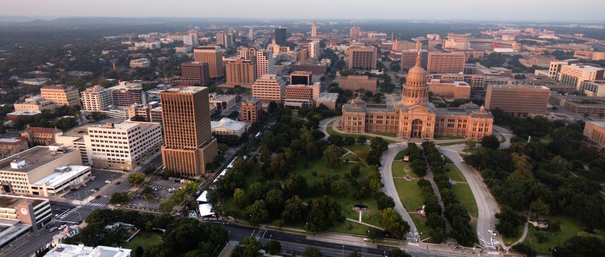 Developments in Austin near the Capitol and Courthouse