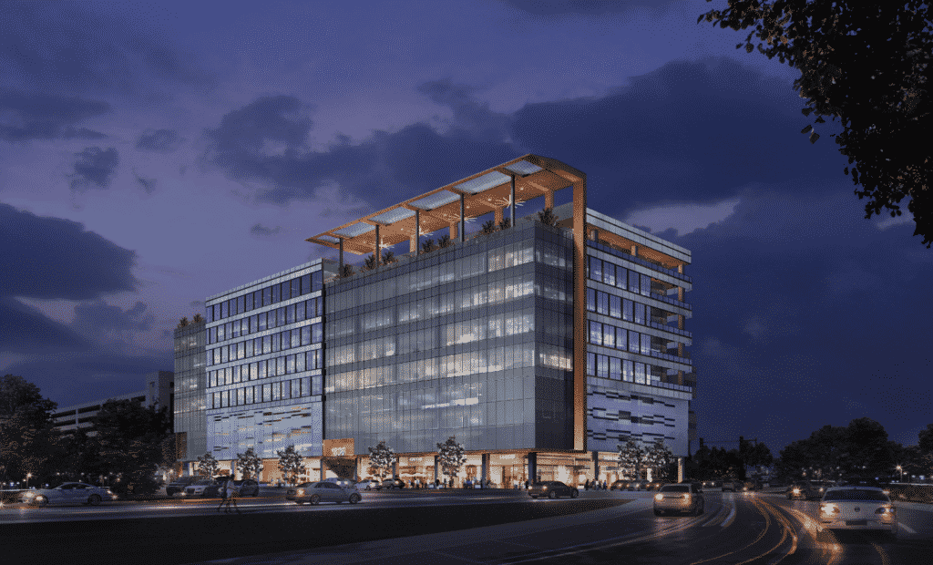 Rendering of the ERS Innovation Building in Austin, Texas near the new courthouse