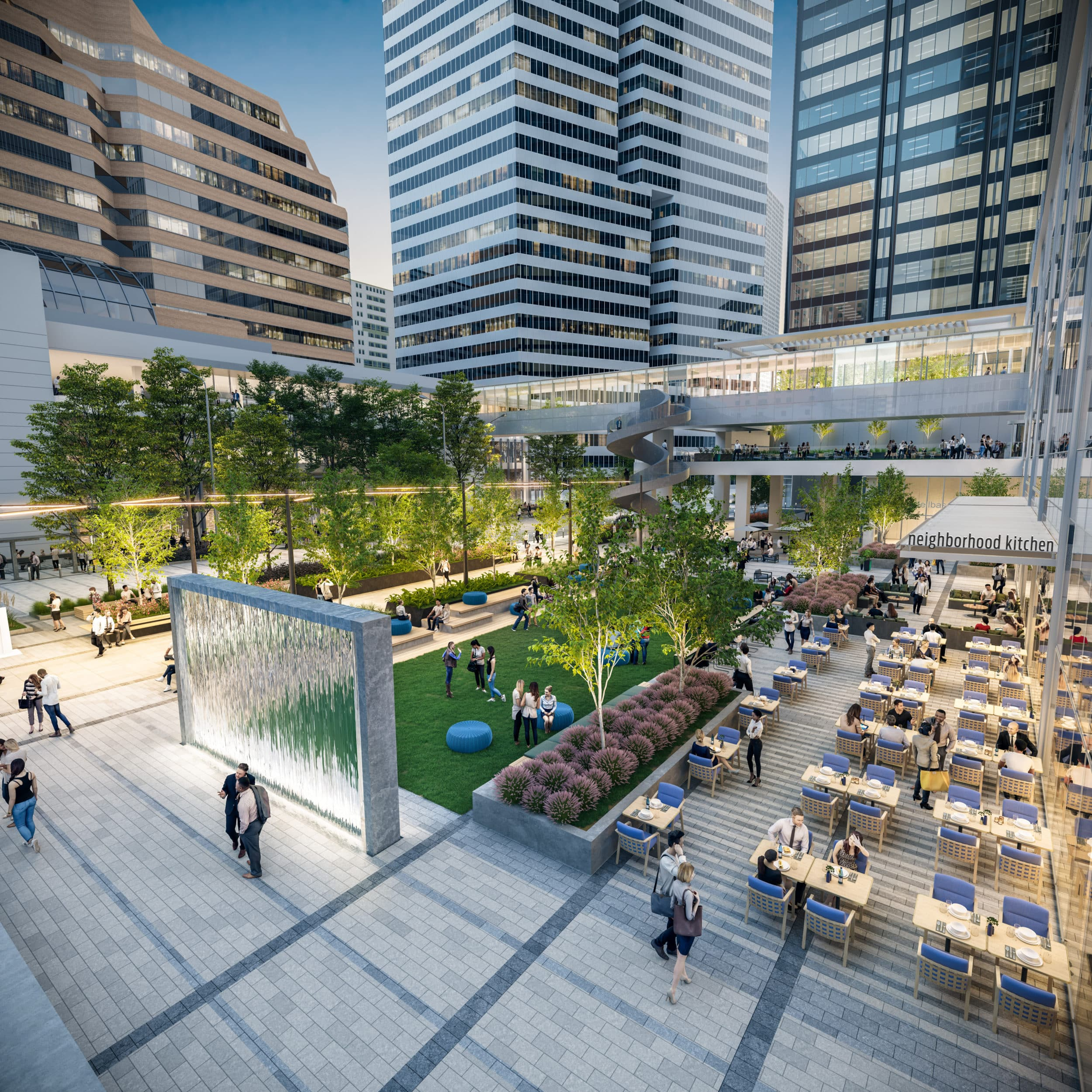 houston center plaza by kilograph