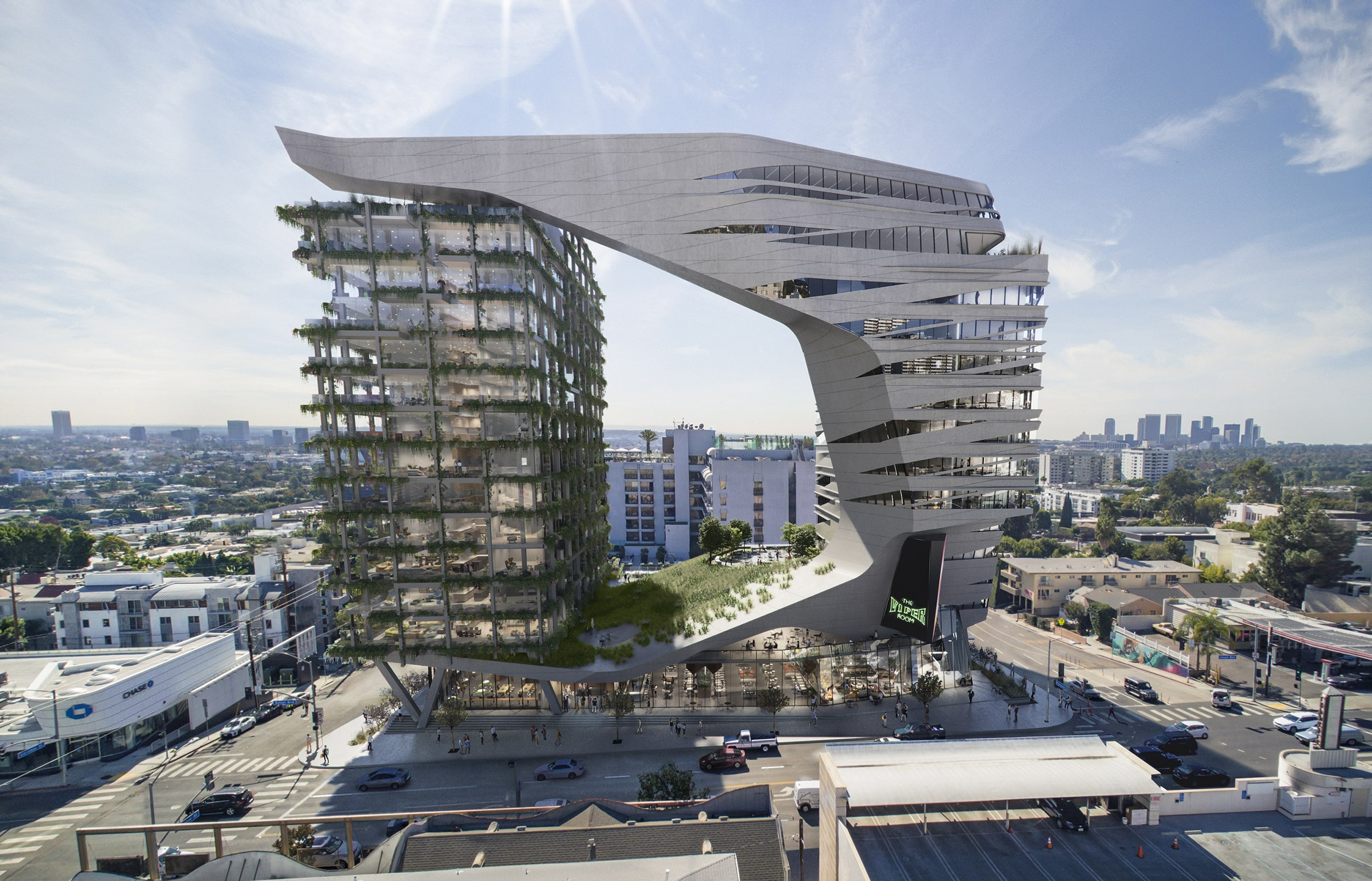 west hollywood hotel by kilograph and morphosis