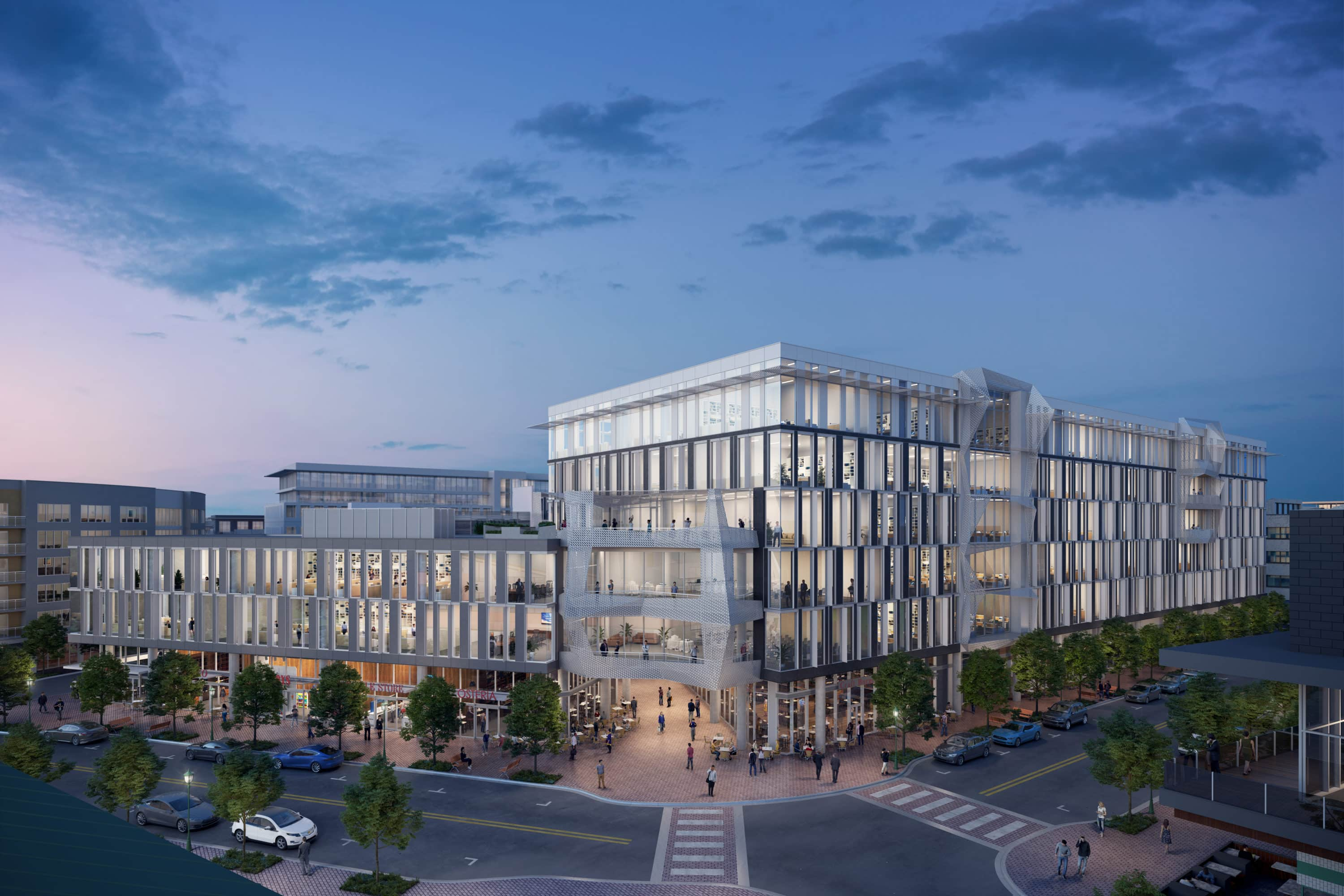 Exterior Rendering of Mueller Business District by BOGZA