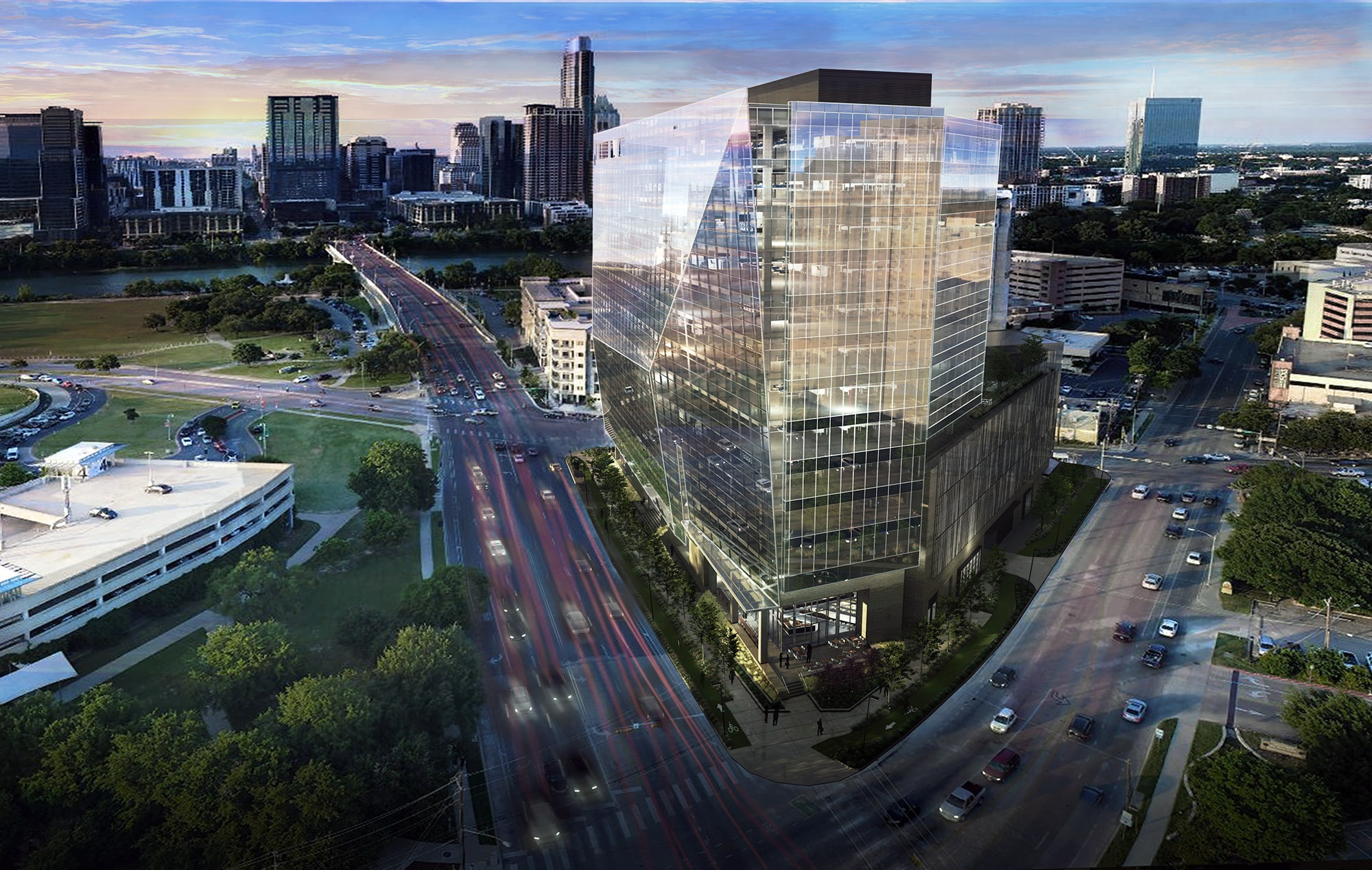 Building rendering Austin,Texas The Beck Group