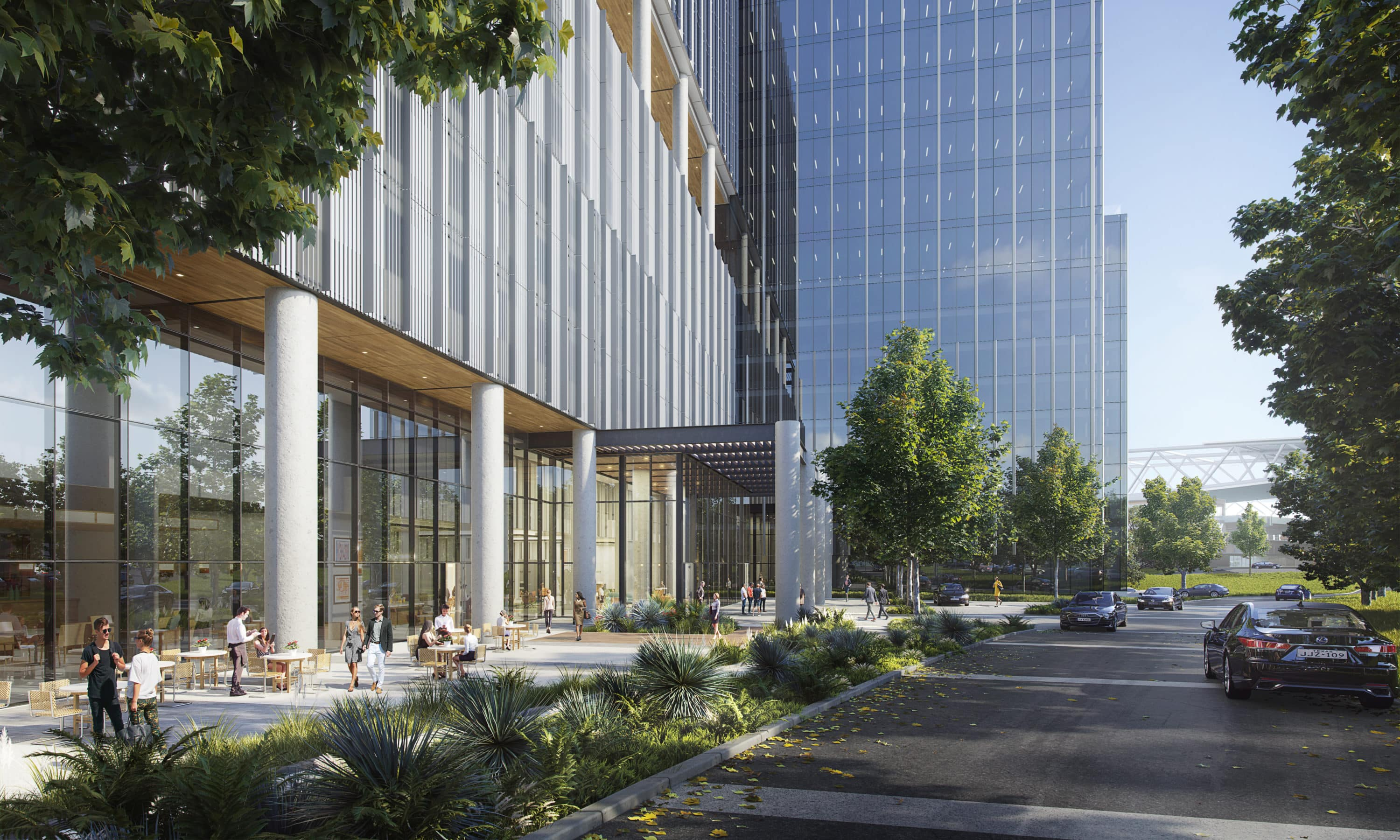 Arena Tower Street-level Rendering by Devisual