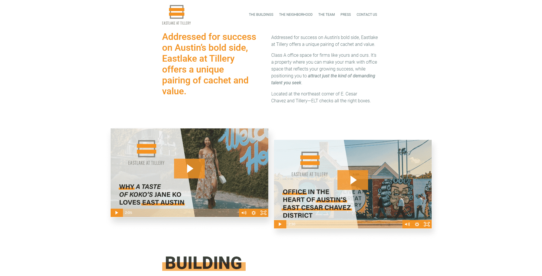 Eastlake at Tillery Website | 7 Things That Should Be on Your Property Website