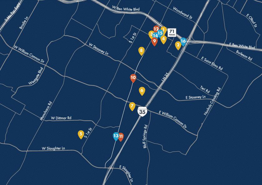 St. Elmo Development Pipeline Map