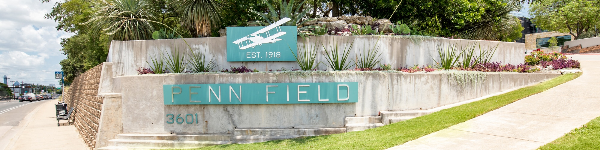 Penn-Field-Entrance-Signage