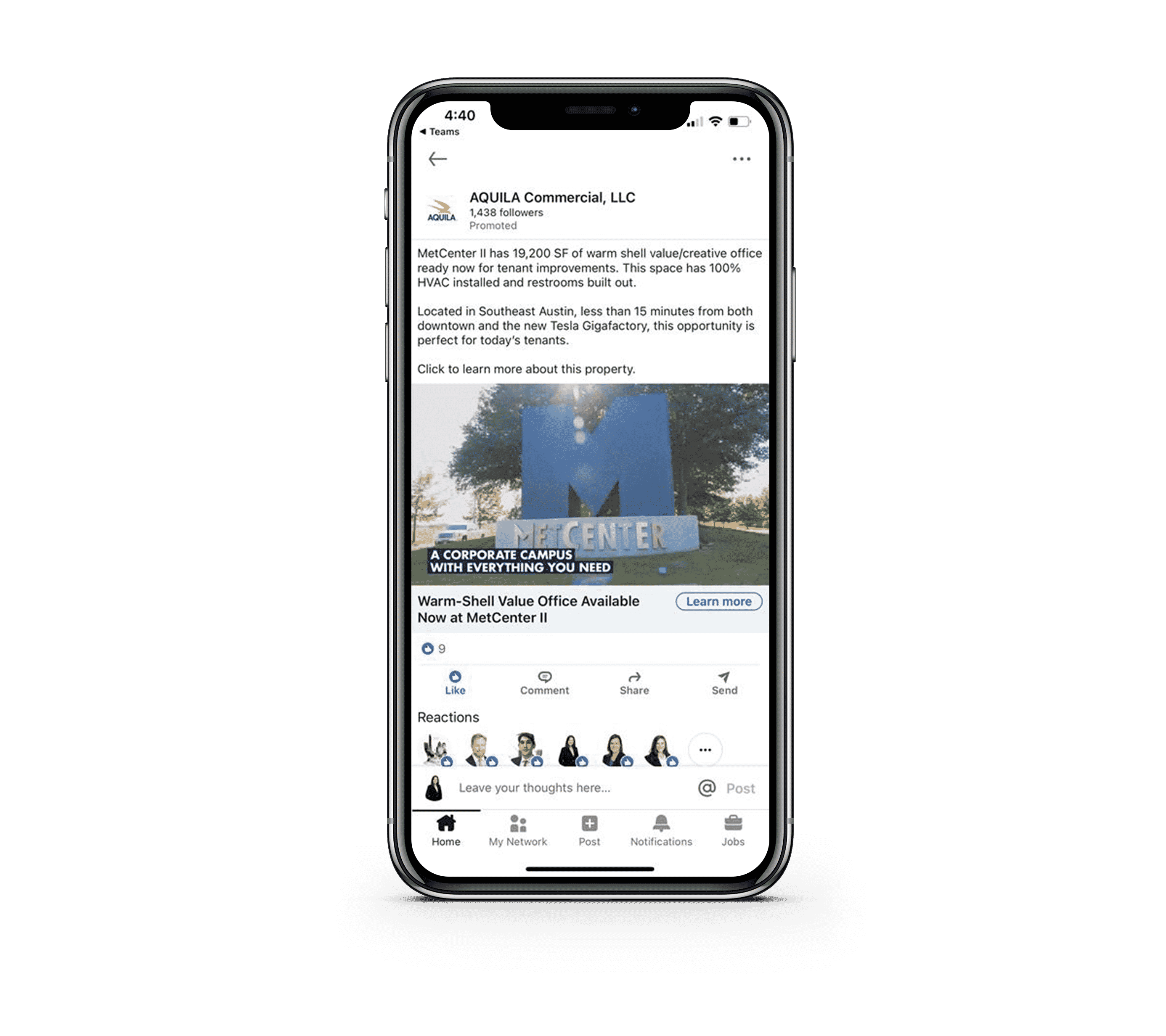 LinkedIn Social | Digital Advertising for Commercial Real Estate